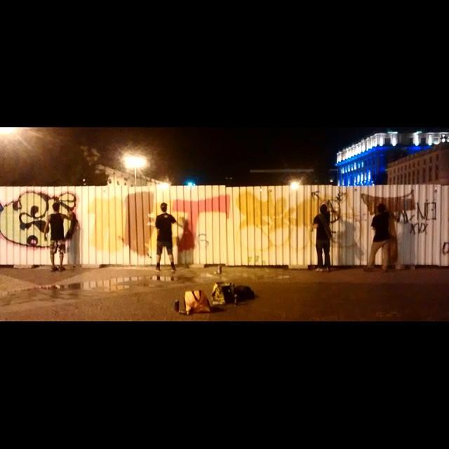 Teyyy! Só monstrão! @gloyebzrj @marceloment @marcelojou @tarm1 #graffiti #streetartrio #GaleRio