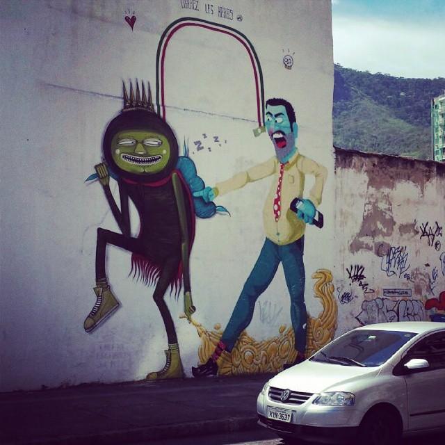 #streetartrio Em Rua Gabriela Prado Maia - Tijuca - Rio de Janeiro-RJ