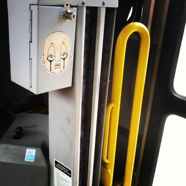 #tapu #sticker #sonbil #bus #StreetArtRio #brasil #rj Babylon by bus...