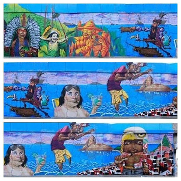 Com esse painel ganhamos a Copa Graffiti 2, do Metrô Rio. O maior painel de graffiti do Rio. #copagraffiti #graffiti #artederua #mural #streetart #streetartrio #riodejaneiro #pintura #arte #art #graffitiart #graffitilovers #ilovegraffiti #spraypaint #instagraffite #instagraffiti #arteurbana #urbanart #sprayart #graffitiporn #painting #graffitirj #errejota #spraydaily #graffitidaily #muralsdaily #rjvandal