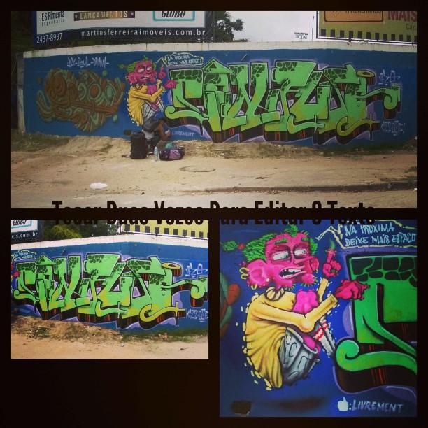 Disse o Little poul que não deixei espaço ... !!! Classe o role !! #graffitilovers #streetart #streetartrio #confuso #efixis #jeanpaul