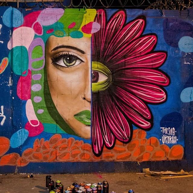 Pintura feita no Natal com o Amigo @rodrigosub #streetart #streetartrio #graffiti #artevida #arte #art #spray #flosrescendo #florolho #flowereye #flower