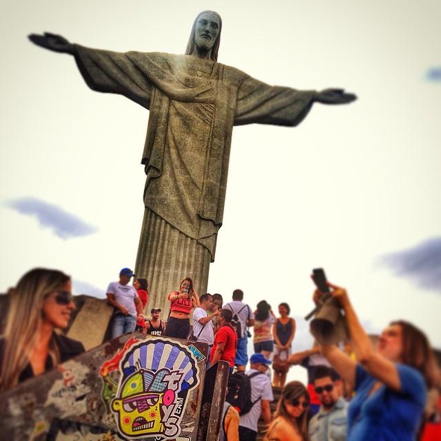 Aonde passar... Seja luz. Cristo Redentor, Rio de Janeiro - Brasil 2014