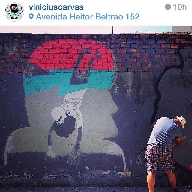 Fazendo arte com meu parceiro @viniciuscarvas no Rio