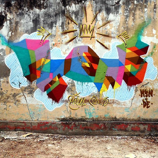 Mais um pouco de cores para o Rio de Janeiro!! Palavras Pintadas, esta foi na Penha!!! #arte #grafiti #pintura #palavraspintadas #tag #cores #3D #universopictóricoparticular #espaçovazio #tintasnosmuros #naçãocrew #vsd #streetartrio
