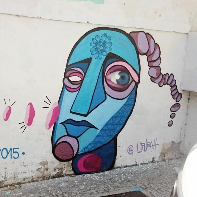 Minha parte na pintura de Domingo. #graffiti #streetartrio #streetart #art #arte #ururah #florolho #flowereye