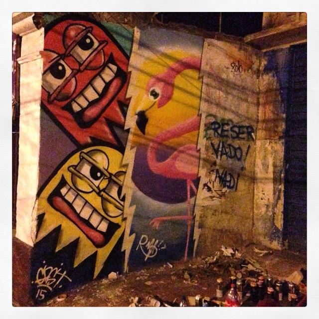 Ontem com o Rafa, tá faltando a parte do Nadi ainda. #TrapaCrew #streetartrio