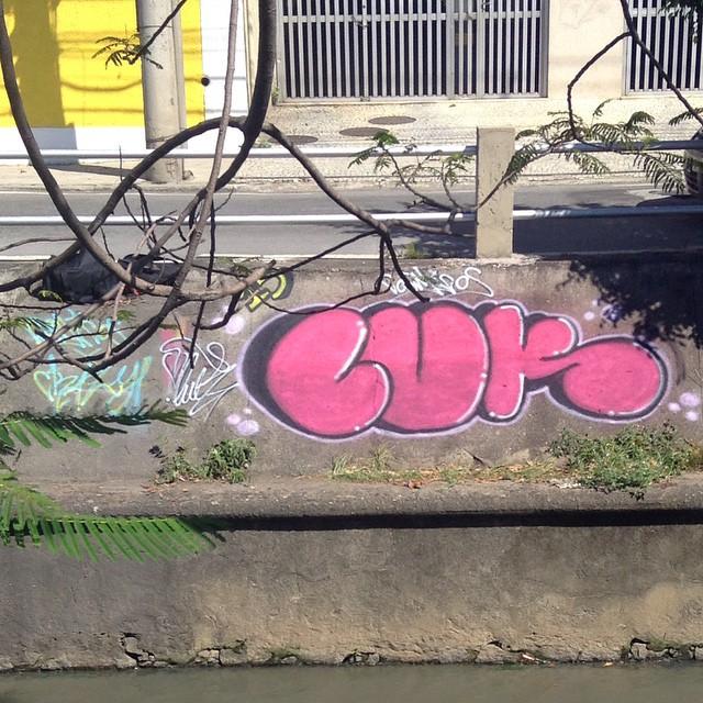 Rolé rapidinho junto com a #crazycrew! #valão #tijuquistao #maracanã #cosmicoscrew #riopqestounorio #riomaracana #rio40graus #mtn #mtnrio #hiphop #skate #StreetArtRio #lovegraff #lovebomb #graffrj #vandalrj #vandal throwup