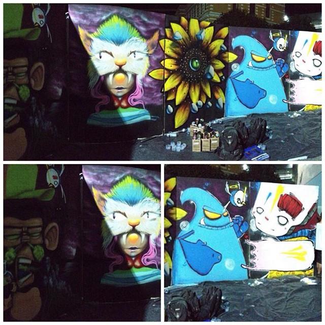 Tattoo Week Rio 2015  Grd  Spam  Nextwo  Noia  Bunys #InstapicFrames #PicCells #ColorSplurge #InstaSplash #spam #viniciusspam #sprayart #spraypaint #streetart #streetartrio #paint #painting #ink #instart #instaart #iloveclowns #instagraffiti #collors #clowngirl #conteporanyart #fusion #graff #graffiti #graffitiart #monkey #rua #tattooweek #artederua #arteurbana #urbanart