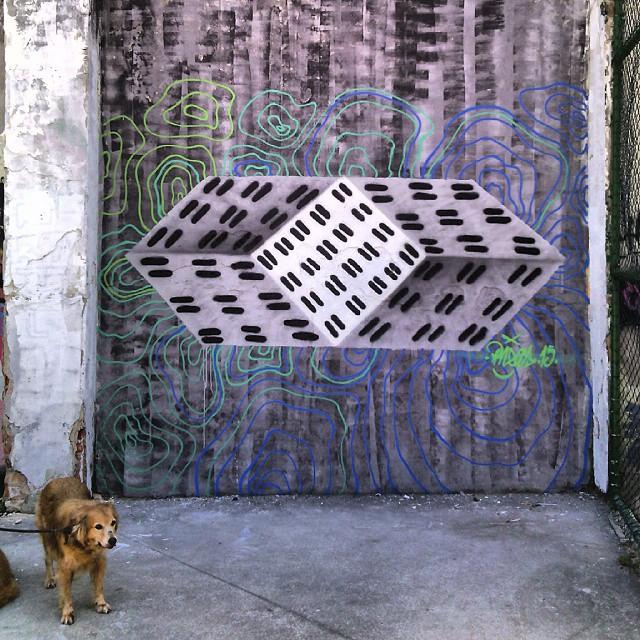 #arte #graffiti #abstraçãogeométrica #geometricabstract #espaçovazio #universopictóricoparticular #palavraspintadas #tintasnosmuros #dialogomudo #vsd #cachorro #streetartrio