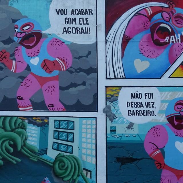 #streetcomics #muchoamoor #streetart #streetartrio #superhero #heroi #muchalucha #amor #quadrinhoderua
