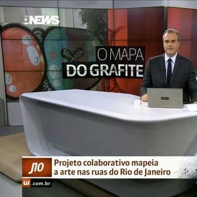 @streetartrio foi destaque no jornal da Globo News! Esse projeto incrível mapeia os graffitis espalhados pela cidade. Já conhece? #graffiti #arteurbana #arte #streetartrio #GaleRio