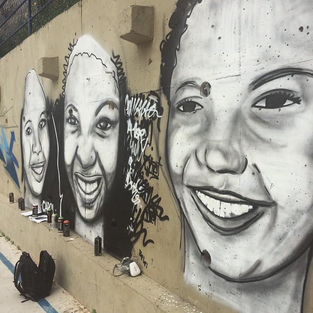 Bebela, Camile e Carol  • Comunidade dos Guararapes - RJ • Processo • #streetartrio #pngone