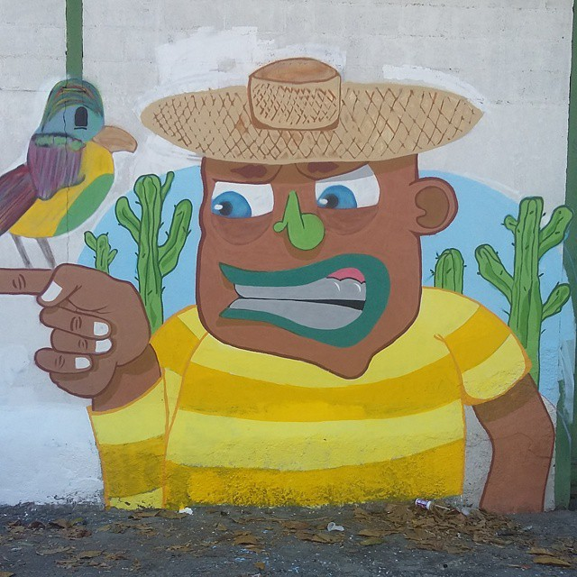 Homenagem a todos nordestinos que vem aqui pro rio arruma seu ganha pão... #ruasdazn #rjvandal #graffitiart #streetartrio #streetart #arte #art #grafite #montana94 #mtn94 #kobra #wallacepato #pato #colorginarturban #zonanorte #ramoseolugar #graffitilifestyle #graffiti #cores #persona #nordeste #bird #aruaenois #galeriaaceuaberto