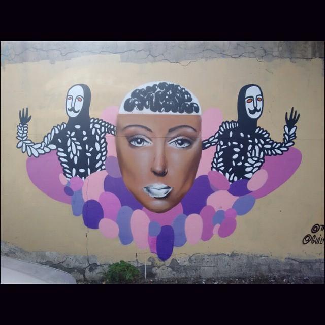 O real e o peculiar. Dois mundos. Um encontro Kid e sub #streetartrio #artgallery #aquarela