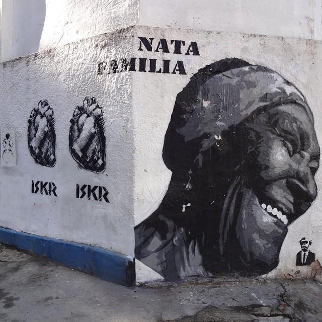 Stencil art by @natafamilia and @1skr . #natafamilia #iskrart #streetartrio #stencil #stencilart #stencilgraffiti #sprayart #streetart #artederua