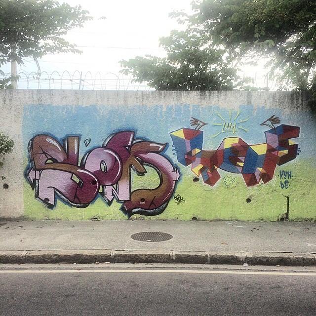 Um dia desses com o mano @felippesom em Cordovil !!!! #arte #graffiti #3D #tag #cores #palavraspintadas #spray #rua #amizade #respeito #tintasnosmuros #cordovil #grafite #streetartrio