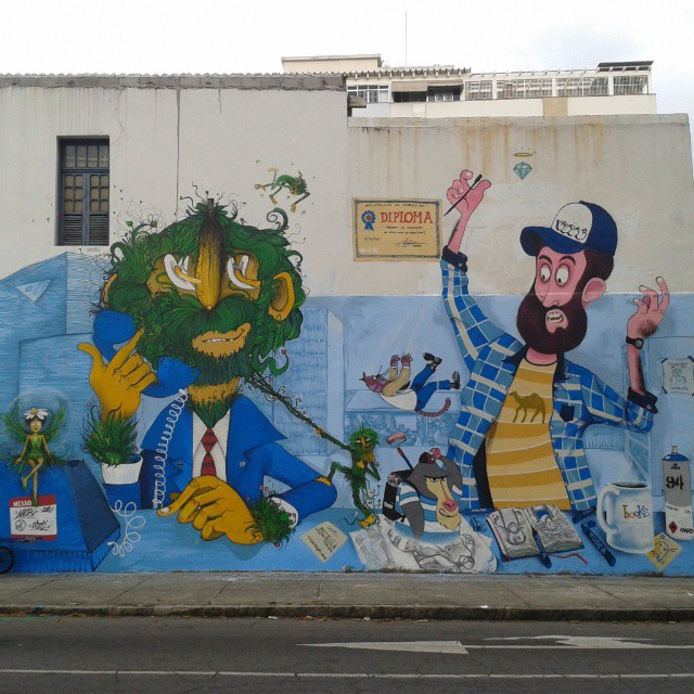 ♡ #StreetArtRio #StreetArtBrazil #Graffiti