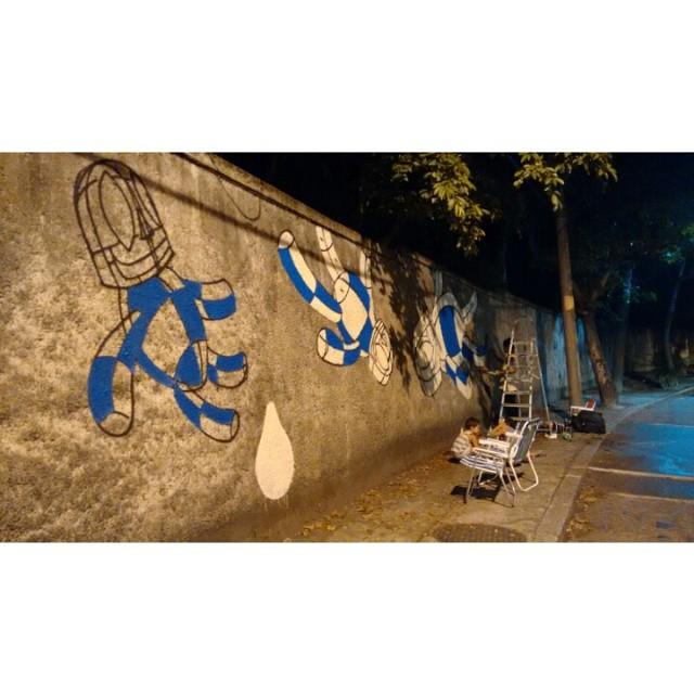 Anoiteceu. #Kaduori #streetartrio #streetart #graffiti