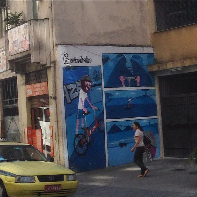 Art done by @cazesawaya #barbudinhoo #graffiti #streetart #streetartrio #urbanart #nofilter #muralsdaily #lapa #riodejaneiro #brazil