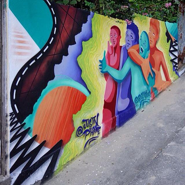 Bella x Phame Morro dos Prazeres, RJ Caminho do graffiti 2