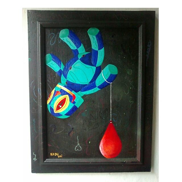 Leveza. Acrílica sobre compensado 50x35 #Kaduori #personagens #art #canvas #cores #telas #quadros #graffiti #streetartrio