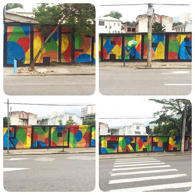 Mais Amor No Grajaú, 50m de muro reformado.