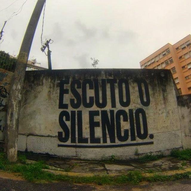 O barulho que o silêncio faz #gopro #streetartrio #streetart