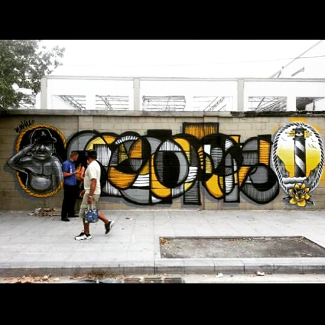 Pintura coletiva com a família NAVIU #InstaSize #artwork #art #arte #arteurbana #urbanart #streetartrio #streetart #artderua #grafitti #riodejaneiro #rodoviaria #garvey #bandeira #menega #naviu @garveyart @rbandeira23