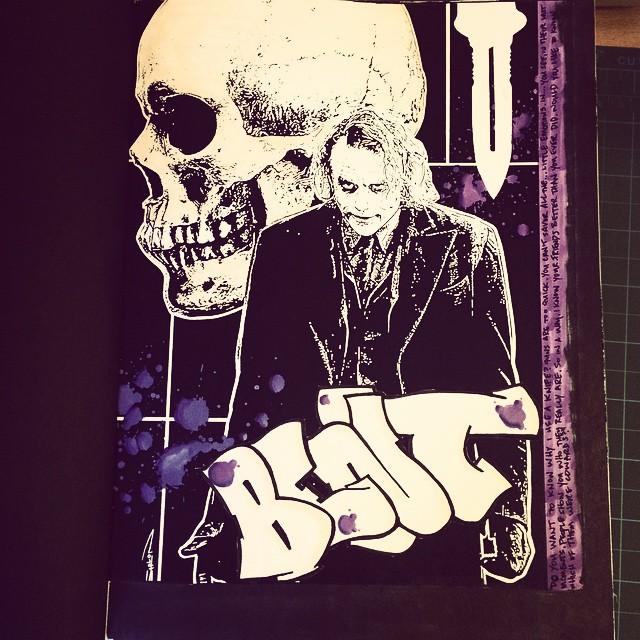 Quick book work. First fully fleshed out book work in 14yrs. It's a rough approximation of what I think heavy metal looks like in regards to graffiti. #streetartrio #urbanart #letters #streetart #colorginarturbana #wildstyle #streetartglobe #culturap #streetartfiles #segov #meetingofstyles #macae #letras #throwup #throwie #graffporn #art #oneliner #graff #mural #belton #tag #graffiti #vandal #montana #handstyle #piece #blackbookart #dub #burner