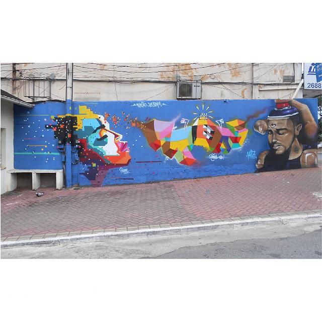 Sábado passado em Itaguaí com #Hum e @rodrigomica . Muito agradecido pelo convite, hospitalidade e gentileza de vocês e de toda a rapazeada que colou no muro!! Vocês são Foda!! Mais uma vez agradecidoooo !! Abrações!! #Itaguai #graffiti #naçãocrew #cores #spray #letra #tags #palavraspintadas #universopictóricoparticular #abstraçãogeométrica #espaçovazio #tintasnosmuros #realsentimento #respeito #vsd #streetartrio
