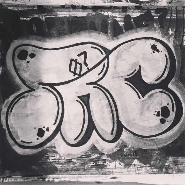 1 line - throw up SRC Q? - QPASA? #bomb #bombing #graffiti #art #streetart #streetartrio #throwup #throw #throwing #welovebombing #allcity #qpasa #qpasacrew #blackandwhite #oneline #1line #searc #src