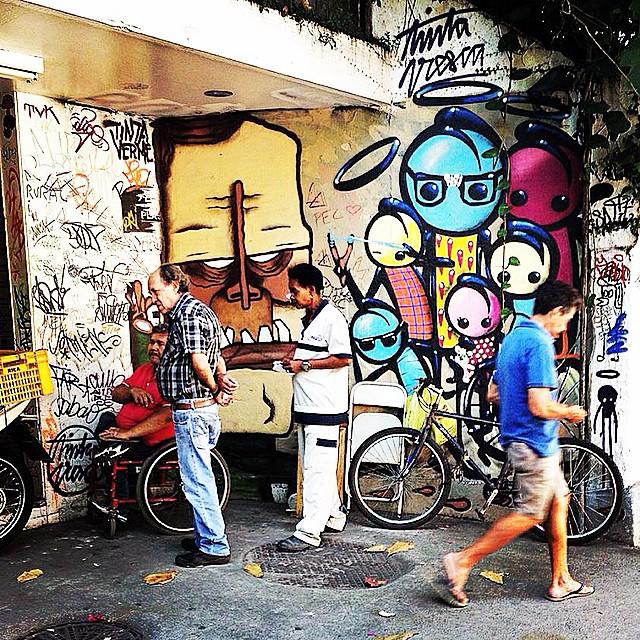 @lepeq1 @warkrocinha #streetartrio #streetart #graffiti #gavea #streettags