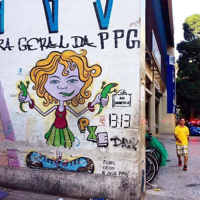 Art done by @marciopxe #graffiti #streetart #streetartrio #urbanart #MuralsDaily #nofilter #ipanema #riodejaneiro #brazil