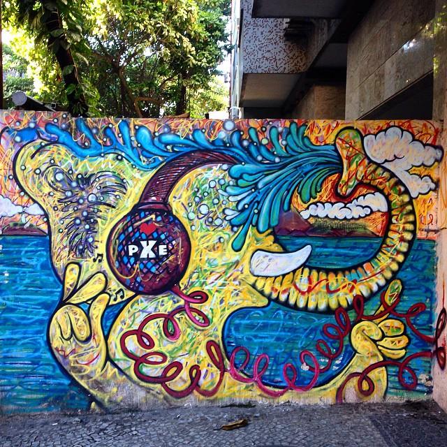Art done by #pxe #graffiti #streetart #streetartrio #urbanart #MuralsDaily #nofilter #ipanema #riodejaneiro #brazil