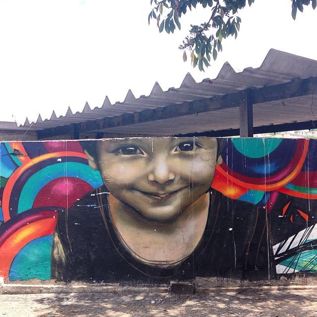 Beautiful child #graffiti #streetart #streetartrio #urbanart #muralsdaily #nofilter #niteroi #brazil
