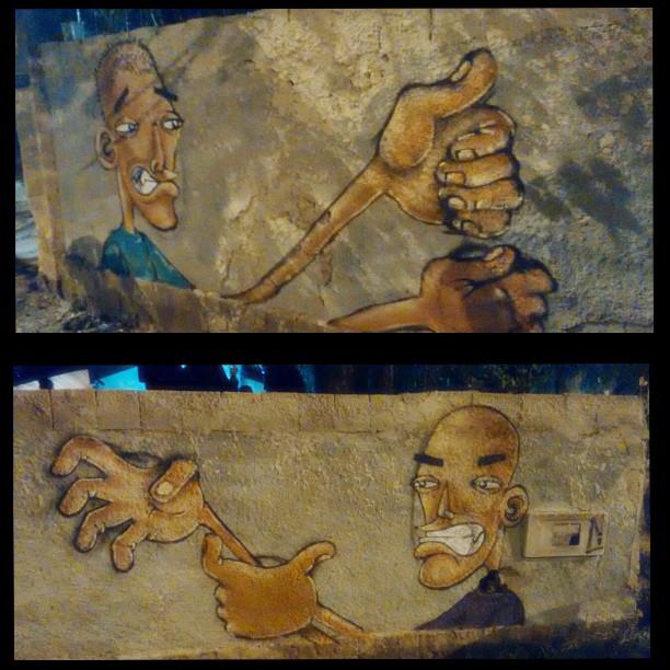 ...Bom Dia ! Esse trampo foi feito Domingo no Expresso22, muro do Espaço de Cultura e Arte João Velho, junto com meu mano @marciomacvieira ...Depois posto o trampo finalizado !  #Graffiti #ArteViva #Personagem #CaboDeGuerra #Expresso22 #Niterói #StreetArtRio