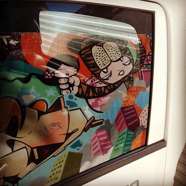 By @tozfbc. Rio de Janeiro. 21/04/2015 | vandalogy #StreetArtRio #StreetArt #riodejaneiro #gavea #tozfbc #toz #FleshBeckCrew #rjvandal #graffiti