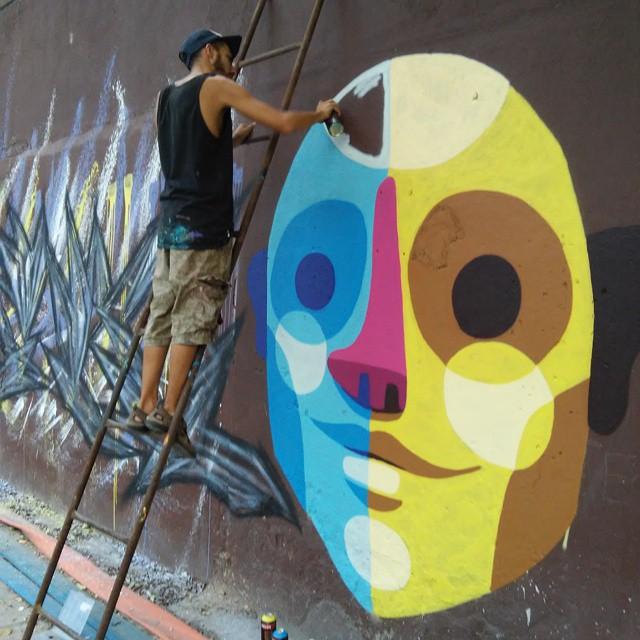 Conexão #streetartrio #cidadegaleria #instagraffiti #Riodejaneiro #brasil