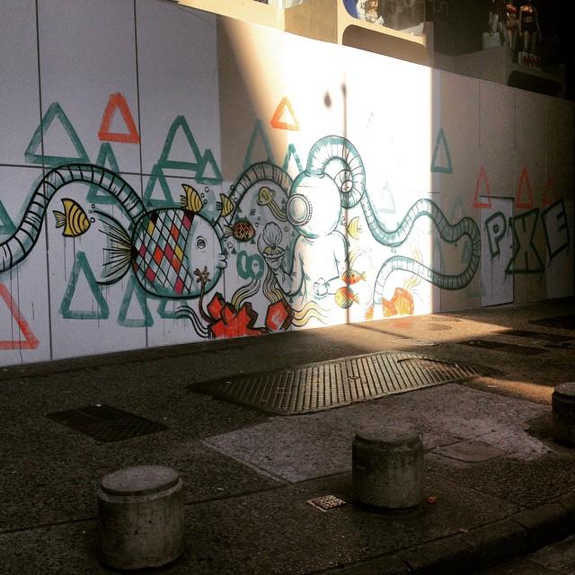 #Copacabana amanheceu assim... #PXE #graffiti #streetart #ocean #RiodeJaneiro #streetartRio