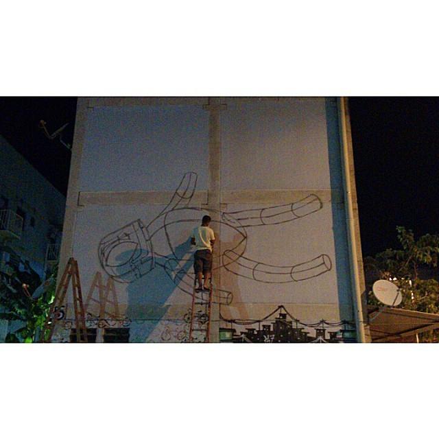 E assim começa a noite. #Kaduori #graffiti #streetartrio #streetart #instagrafite #mtnrio