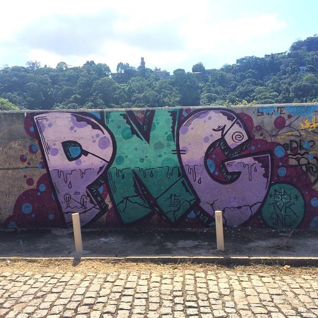 PNG.  • #streetartrio #pngone #rjvandal
