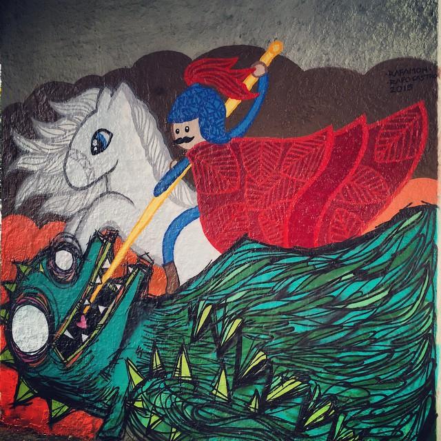 Pinturinha de feriado!!! Com a querida @-@_rafamon_ #Streetartrio #mtn #mtnbrasil