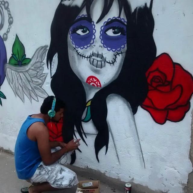 Por amor a arte... #graffiti #cdd #leandroice #art #StreetArtRio #catrina #tattoo