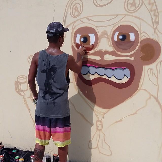 Sempre carreira solo!! #ruasdazn #rjvandal #graffitirj #graffiti #galeriaaceuaberto #streetartrio #graffitibrazil #graffitilovers #graffrio