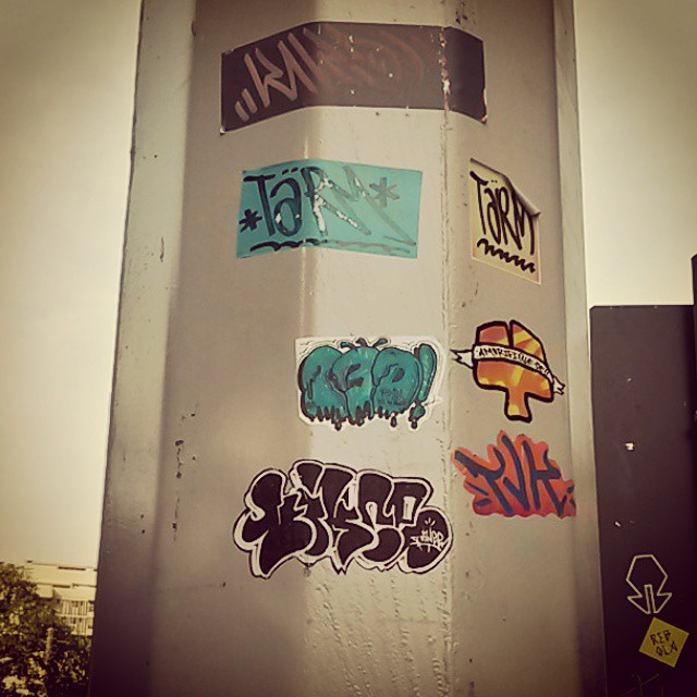 Stickers #graffiti #streetartrio #stickers #bomb #vince