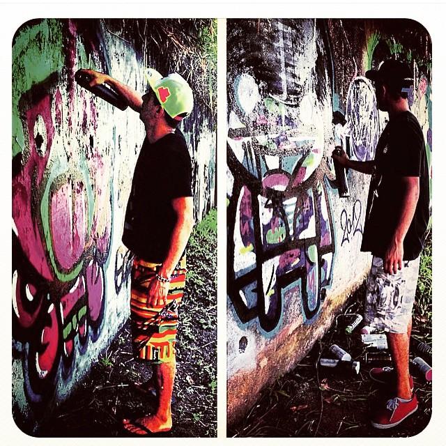 #djonereal & @sockppxi #streetartrio @marygirlstyle #graffiti #role #2012 #streetart