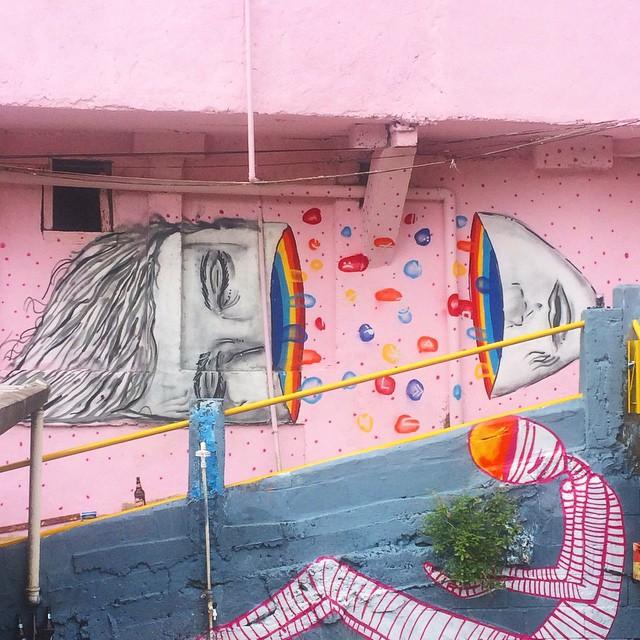 Aqui na Comunidade dos Guararapes com @umaflora • #streetartrio #pngone #rjvandal #instagrafite