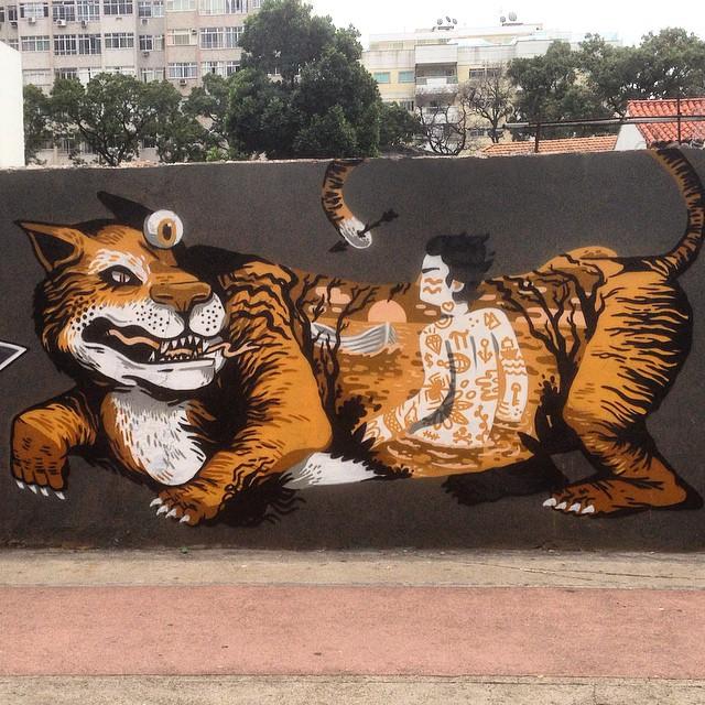 Art done by @viniciuscarvas #nrvo #graffiti #streetart #streetartrio #urbanart #MuralsDaily #orioquenaosemostra #tijukistan #tijuca #riodejaneiro #brazil