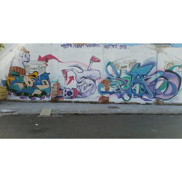 BLOPA + DAVI + PAKATO  2015 #BLOPA #mtn #mtn94 #graffiti #graffitiart #graffitiartist #streetart #art #arte #arteurbana #graffitikings #letters #weloveletters #SprayArt #Writer #graffitiwriter #vscocam #print #wildstyle #wildstylegraffiti #graffitilove #graffitilovers #streetartrio #Writer #BlopaOne